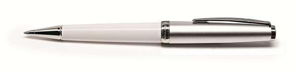 Cleo Classic Metall Kugelschreiber Metall weiß 24176