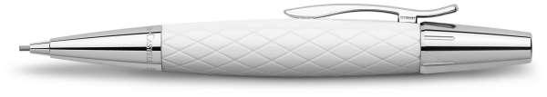 Faber-Castell Drehbleistift 1,4mm-B e-motion Rhombus weiß, 138556