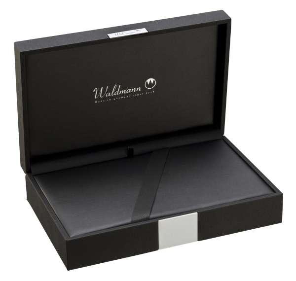 Waldmann 0130 Etui aus schwarzem Kunstleder, für Schreibgeräte – Groß