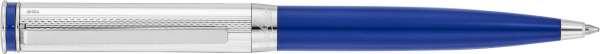 Waldmann 6948 Edelfeder Drehkugelschreiber, Korn-/Linien-Design silber / Lack marina blau