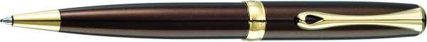 Diplomat Kugelschreiber Excellence A2 Marrakesh braun vergoldet easyFlow, D40213040