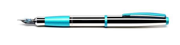 Cleo Colour Füllhalter F-Feder glänzend aquablau 20740