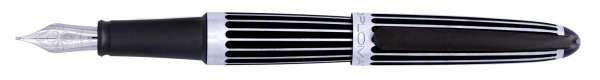 Diplomat Füllhalter Aero Stripes Black, Feder F, D40318023
