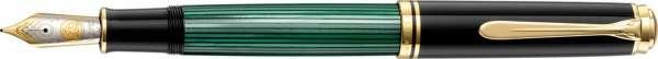 Pelikan Füllhalter Souverän M1000 Schwarz-Grün - Goldfeder 18kt-F 987487