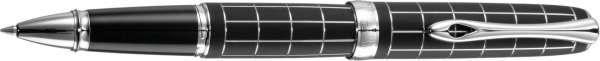 Diplomat Tintenroller Excellence A plus Raute guillochiert lapis schwarz, D40101030