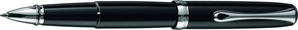 Diplomat Tintenroller Excellence A2 Lack schwarz verchromt, D40202030