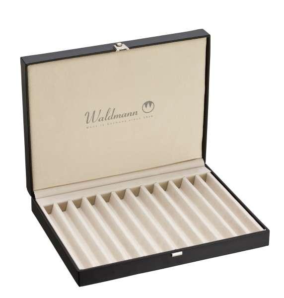 Waldmann 0140 Kollektionsetui mit Deckel für 10 Schreibgeräte, schwarz