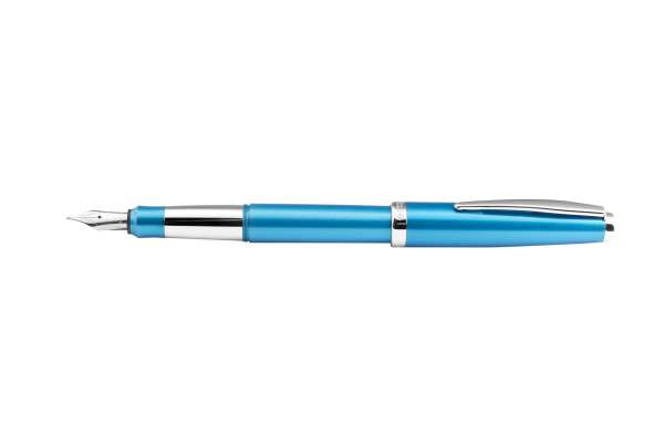 Cleo Colour Alu Füllhalter B-Feder blau 20952