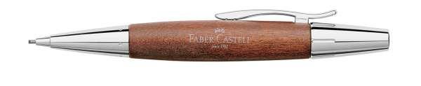 Faber-Castell Drehbleistift 1,4mm-B e-motion Holz Chrom braun, 138382
