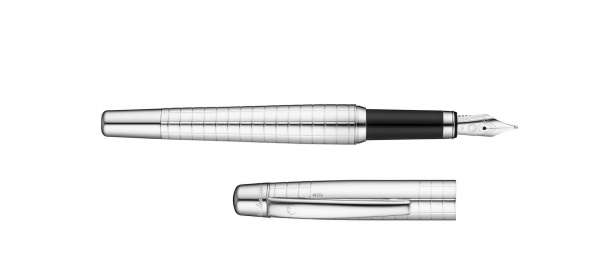 Waldmann 4643 Füllhalter Concorde, Feder M, Quadrat-Design