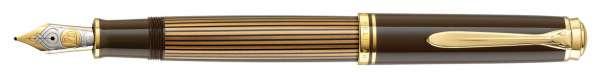 Pelikan Füllhalter Souverän M800 Braun-Schwarz, Feder F, 813860 - Special Edition
