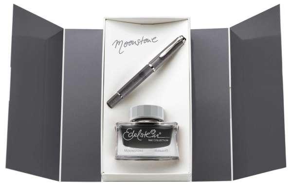 Pelikan Füllhalter M205 Moonstone Geschenkset, Feder M, 816946 - Special Edition