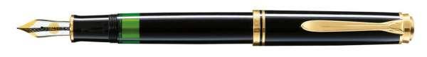 Pelikan Füllhalter Souverän M600 Schwarz - Goldfeder 14kt-EF 977603