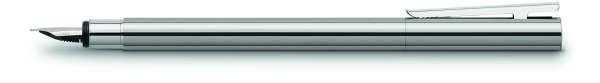 Faber-Castell Füllhalter NEO Slim Edelstahl glänzend, Feder F, 342001