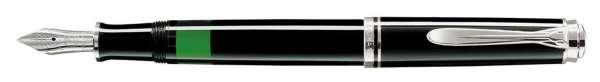 Pelikan Füllhalter Souverän M405 - Schwarz-Silber Goldfeder 14kt-B 924803