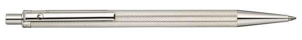 Waldmann 0002 Eco Druckkugelschreiber, Korn-Design silber