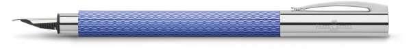 "Faber-Castell Füllhalter AMBITION OpArt ""Blue Lagoon"", Feder M, 149680"