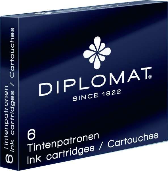 Diplomat D10275204 Tintenpatronen 6er Packung schwarz