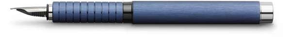 Faber-Castell Füllhalter Essentio Aluminium blau, Feder F, 148441