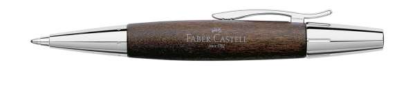 Faber-Castell Drehkugelschreiber e-motion Holz Chrom dunkelbraun, 148381