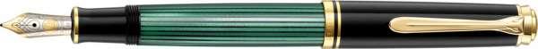 Pelikan Füllhalter Souverän M600 Schwarz-Grün - Goldfeder 14kt-B 977546