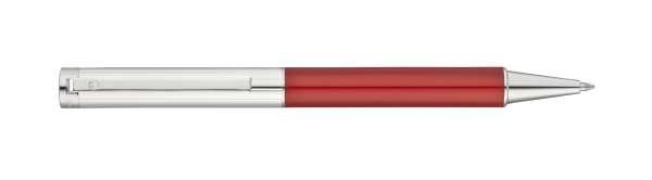 "Waldmann 0368 Cosmo Drehkugelschreiber, Linien-Design silber / Lack Metallic ""Red-Fire"""