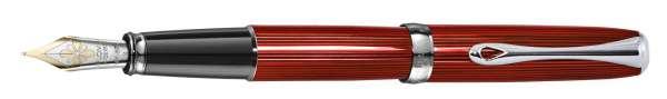 Diplomat Füllhalter Excellence A2 Skyline rot, Goldfeder 14kt M, D40216015